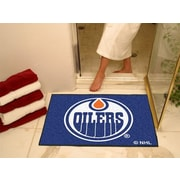 "Fanmats Officially Licensed Edmonton OIlers Floor Rug, 34"" x 43"", Blue (F0010385)"