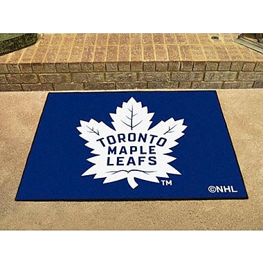 Fanmats – Tapis de sol à motif des Maple Leafs de Toronto sous licence officielle, 34 po x 43 po, bleu (F0010440)