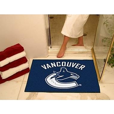 Fanmats – Tapis de sol à motif des Canucks de Vancouver sous licence officielle, 34 po x 43 po, bleu (F0010449)