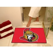"Fanmats Officially Licensed Ottawa Senators Floor Rug, 34"" x 43"", Red (F0010423)"