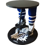 "Team Tables Toronto Hockey Accent Table, Officially Licensed 27"" Maple Leafs Puck Mat  (H-TOR-B-B-M)"