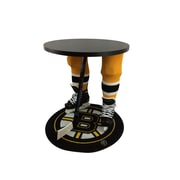 "Team Tables Boston Hockey Accent Table, Officially Licensed 27"" Bruins Puck Mat (H-BOS-B-B-M)"