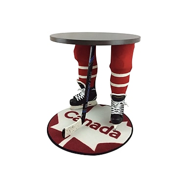 Team Tables Canada Hockey Accent Table, Silver, 27