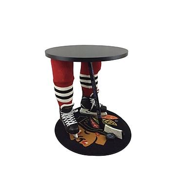Team Tables – Table d'appoint à motif Blackhawks de Chicago sous licence officielle, 27 po, ronde (H-CHI-B-B-M)