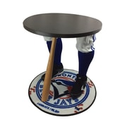 "Team Tables Toronto Baseball Accent Table, Officially Licensed 27"" Blue Jays Carpet (B-TOR-S-Z-M)"