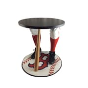 "Team Tables Boston Baseball Accent Table, Officially Licensed 27"" Red Sox Carpet (B-BOS-E-Z-M)"