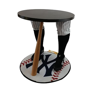 Team Tables New York Baseball Accent Table, Officially Licensed 27