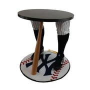 "Team Tables New York Baseball Accent Table, Officially Licensed 27"" Yankees Carpet (B-NYY-S-Z-M)"