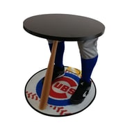 "Team Tables Chicago Baseball Accent Table, Officially Licensed 27"" Cubs Carpet (B-CHIC-E-Z-M)"