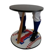 "Team Tables Texas Baseball Accent Table, Officially Licensed 27"" Rangers Carpet (B-TEX-S-Z-M)"
