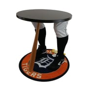 "Team Tables Detroit Baseball Accent Table, Officially Licensed 27"" Tigers Carpet (B-DET-S-Z-M)"