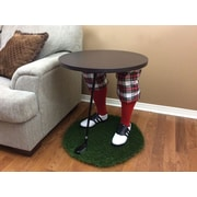 "Team Tables Scotland Yard Golf Accent Table, 24"" Grass Turf Rug (G-SYKR-E-B-M)"