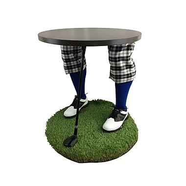 Team Tables – Table d'appoint à motif golf Winter Blues, 24 po (G-WTKU-S-B-M)