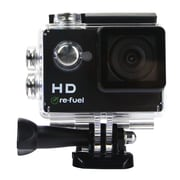Re-Fuel Action Camera with Waterproof Case, Black, (RF-ACTION2)