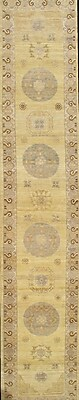 Pasargad NY Khotan Hand-Knotted Wool Gold Area Rug