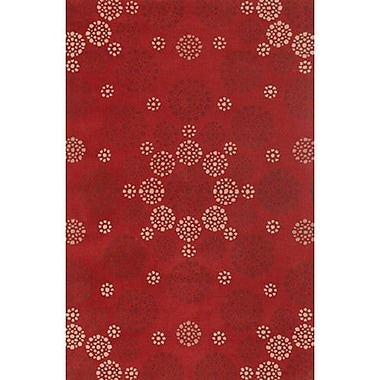 Red Barrel Studio Shanee Red Area Rug; Rectangle 2' x 3'