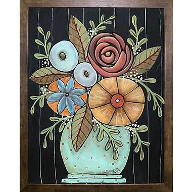 Winston Porter 'Prim Floral' Print; Cafe Mocha Framed Paper