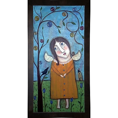 Winston Porter 'Primitive Girl' Print; Cafe Espresso Wood Framed Paper