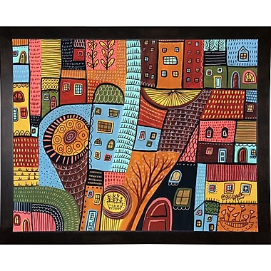 Winston Porter 'Small Town 1' Print; Cafe Espresso Wood Framed Paper