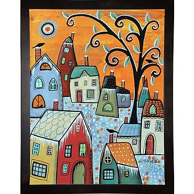 Winston Porter 'Hoarfrost 1' Print; Cafe Espresso Wood Framed Paper