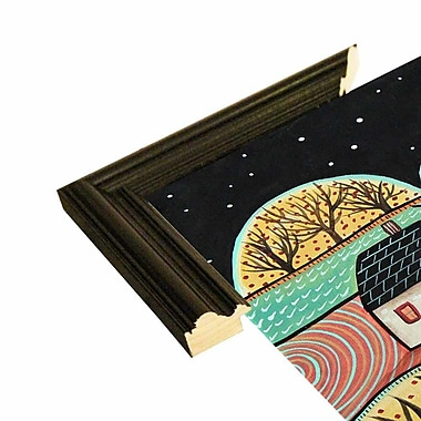 Winston Porter 'Outback 2' Print; Black Wood Grande Framed Paper