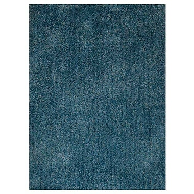 Ebern Designs Ammon Hand Tufted Solid Blue Area Rug; 8' x 10'