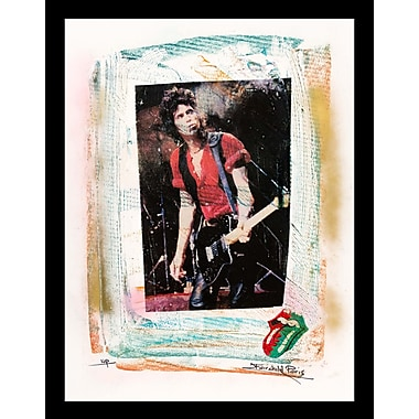 East Urban Home 'Keith Richards' Framed Graphic Art Print