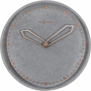 Everly Quinn Leejean 13.78'' Wall Clock; Gray