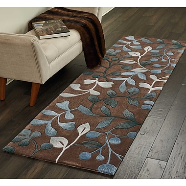 Alcott Hill Holmes Hand Tufted Brown/Gray Area Rug; Runner 2'3'' x 8'
