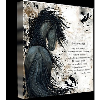 Alcott Hill 'DreamWalker Majestic Friesian' Graphic Art Print on Wrapped Canvas; 11'' H x 11'' W