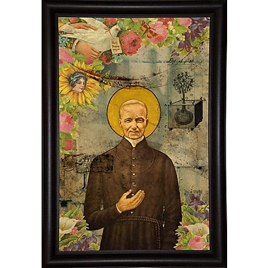 East Urban Home 'The Holy Father' Framed Graphic Art Print; Bistro Expresso Framed Paper