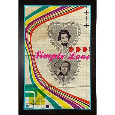 East Urban Home 'Simple Love' Framed Graphic Art Print; Black Wood Medium Framed Paper