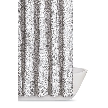 Bungalow Rose Crowders Shower Curtain; Grey