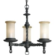 Astoria Grand Jakes 3-Light Shaded Chandelier; Forged Black