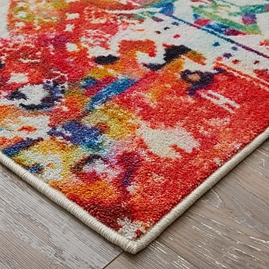 Bungalow Rose Amblewood Red/Blue Area Rug; Rectangle 8' x 10'