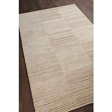 Corrigan Studio Roxanne Patterned Knotted Wool Brown/Beige Area Rug; 7'9'' x 10'6''