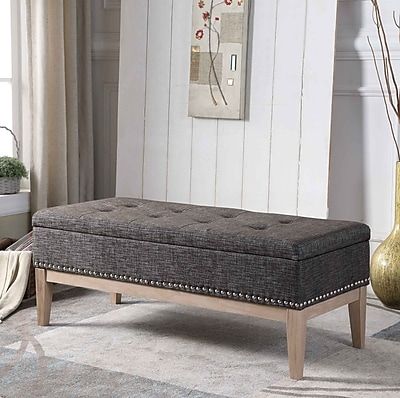 Charlton Home Lewistown Tufted Mid-Century Upholstered Storage