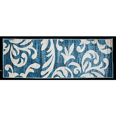 Charlton Home Knoxville Blue Area Rug; Runner 3' x 8'