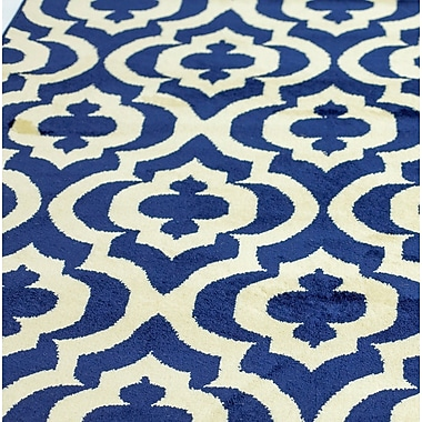 Charlton Home La Brea Blue Area Rug; 2' x 3'