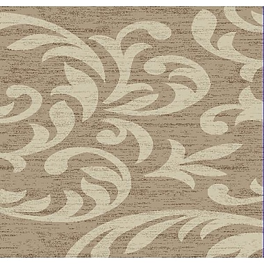 Charlton Home Knoxville Taupe/Cream Area Rug; Runner 3' x 8'