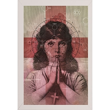 East Urban Home 'The Christian Girl' Framed Print; White Wood Medium Framed Paper