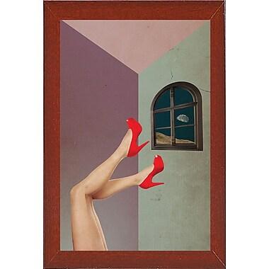East Urban Home 'Inboxed' Framed Graphic Art Print; Red Mahogany Wood Medium Framed Paper