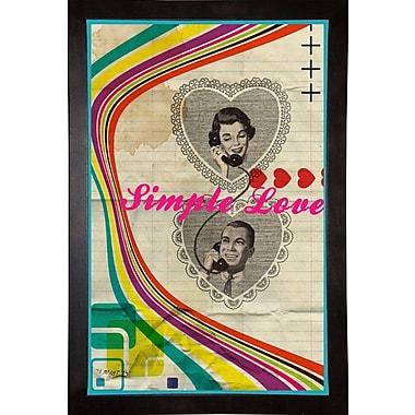 East Urban Home 'Simple Love' Framed Graphic Art Print; Cafe Espresso Wood Framed Paper
