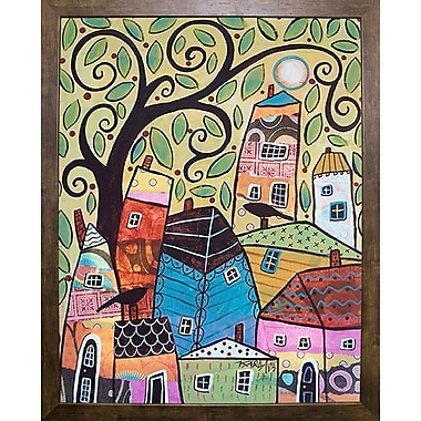 Winston Porter 'Small Village 2' Print; Cafe Mocha Framed Paper