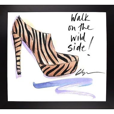East Urban Home 'Walk on the Wild Side' Print; Black Wood Large Framed Paper