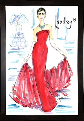 East Urban Home 'Audrey Awesomeness' Print; Cafe Espresso Wood Framed Paper
