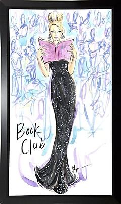 East Urban Home 'Book Club' Print; Black Plastic Framed Paper
