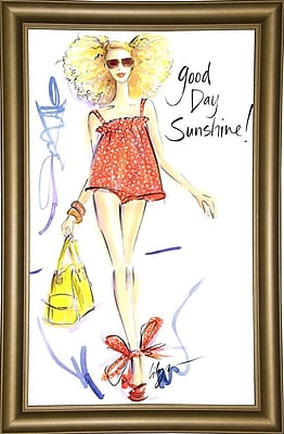 East Urban Home 'Good Day Sunshine' Print; Bistro Gold Framed Paper