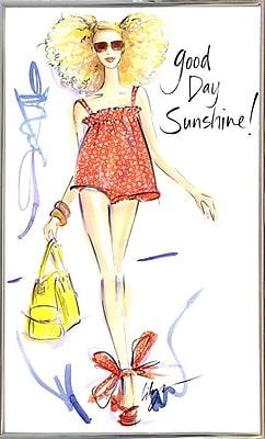 East Urban Home 'Good Day Sunshine' Print; Silver Metal Framed Paper