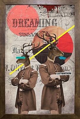 East Urban Home 'The Guardians' Framed Graphic Art Print; Cafe Mocha Framed Paper